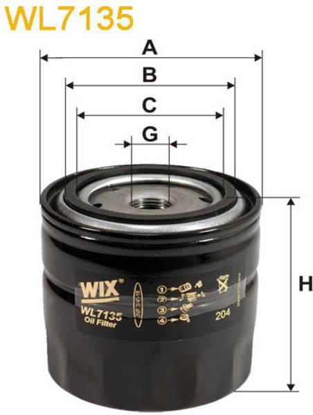 Bilde av WIX WL7135 oljefilter