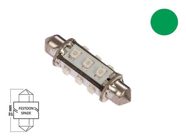 Bilde av LED pære festoon 42mm 10-35V 85lm, kaldhvit
